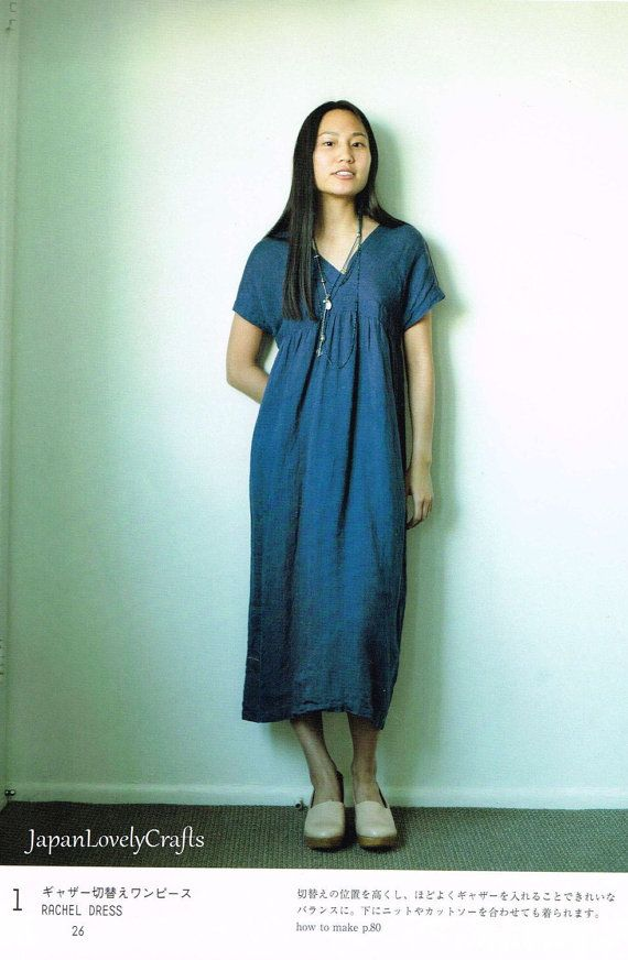 Linen Comfortable Dress Clothes Japanese by JapanLovelyCrafts