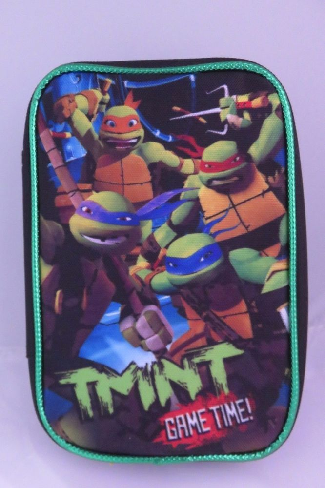 TMNT Ninja Turtle Nintendo DS Game Storage Zippered Travel Carry Carrying Case  #Nintendo