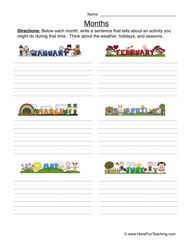 Months of the Year Worksheet - Writing - Have Fun Teaching