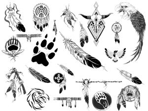 native american patterns printables | Native American Brushes
