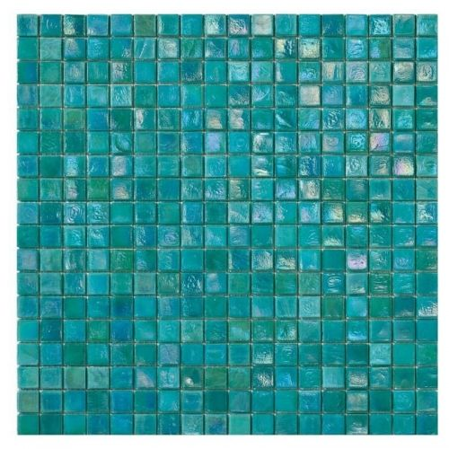 Fern 3 - Hues of mint green dappled with lilac and pale tea colours create a sea-like feel in this mosaic tile.