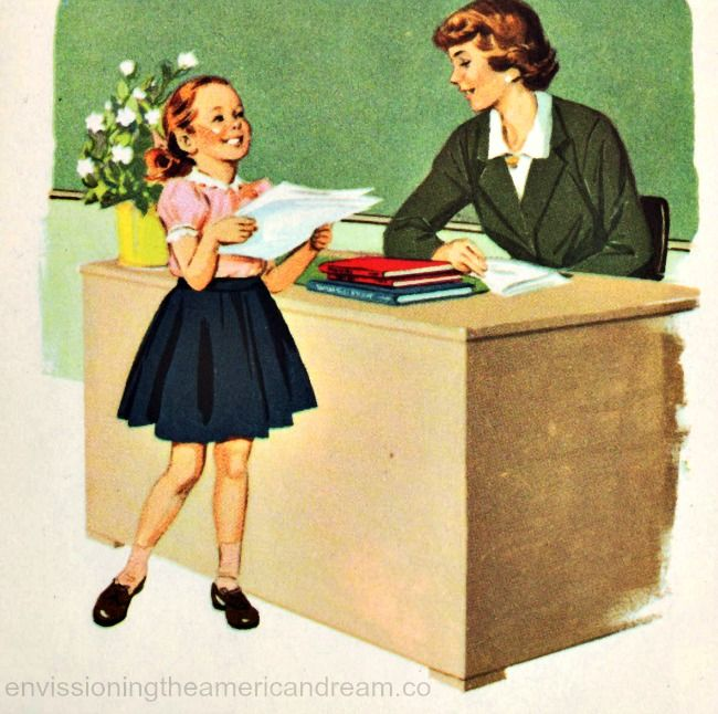 "Vintage Children's School Book Illustration ""Stories About  Linda and Lee"" 1960"