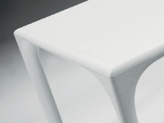 Tavolo da pranzo laccato rettangolare in legno SINTESI | Tavolo laccato - LINFA DESIGN