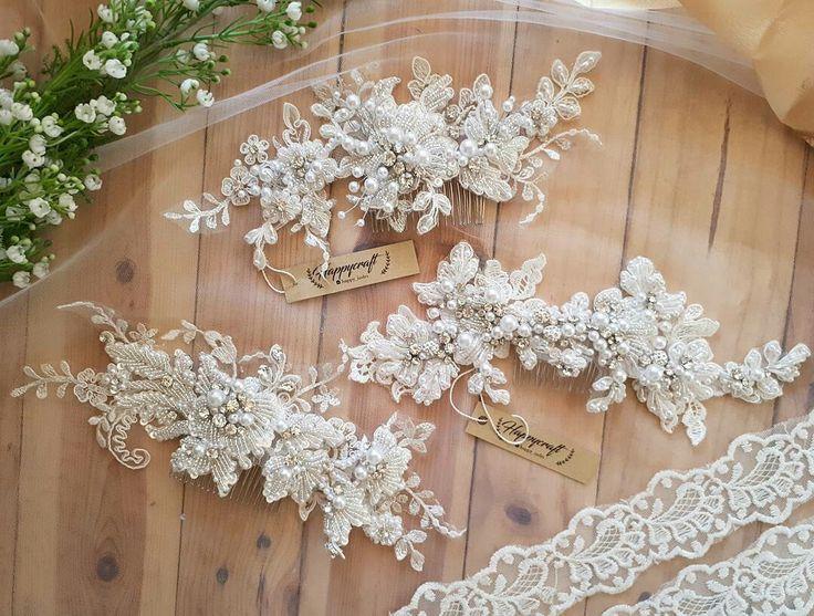 Wedding hairpiece Lace headpiece