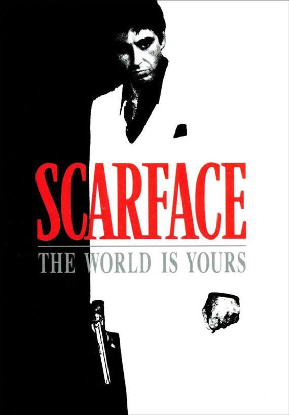 Framed Scarface Movie Poster Al Pacino Art Wall Decor Wall Etsy Scarface Movie Scarface Poster Scarface
