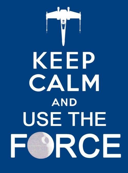 #KeepCalm #force  repinned by the-glitter-side.blogspot.com  www.facebook.com/TheGlitterSide