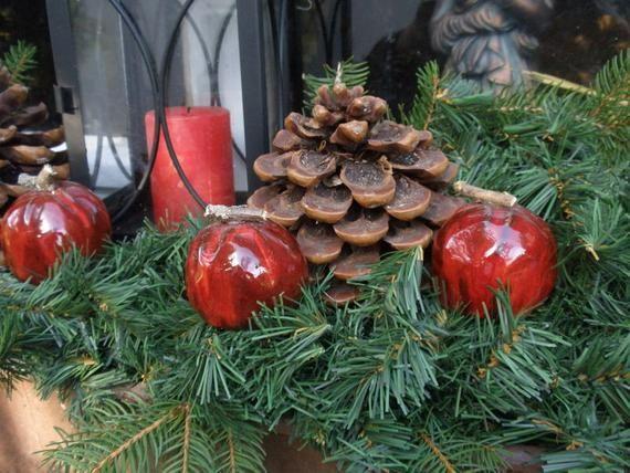Ceramics Apples Deco Apples Christmas Decorations Pottered