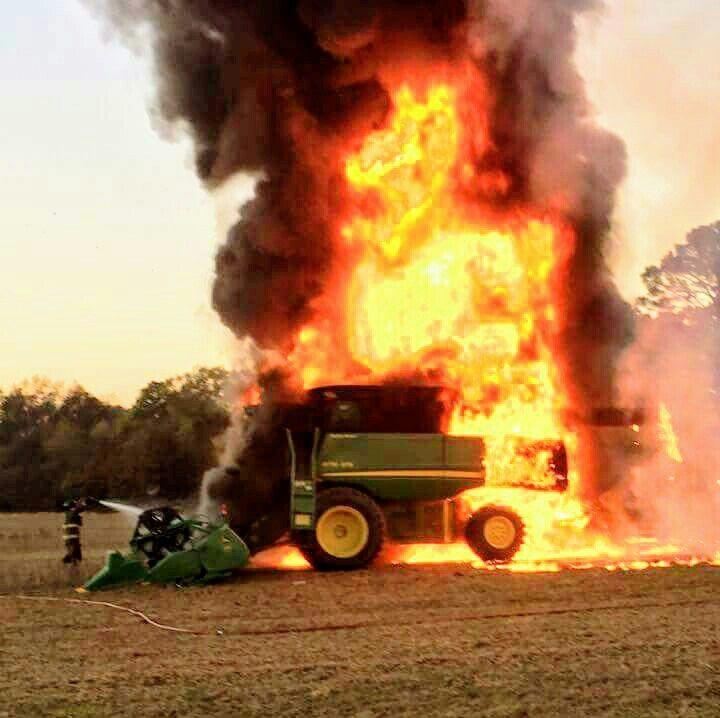 John Deere Combine Fire Tractor Accidents John Deere