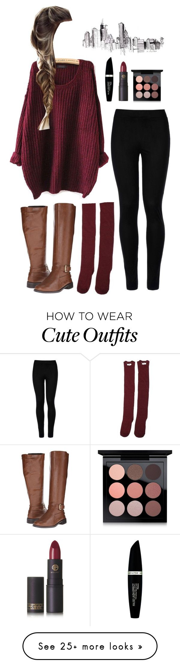 """school outfit 8"" by g-wear on Polyvore featuring Wolford, Aerosoles, Max Factor, Lipstick Queen and MAC Cosmetics"
