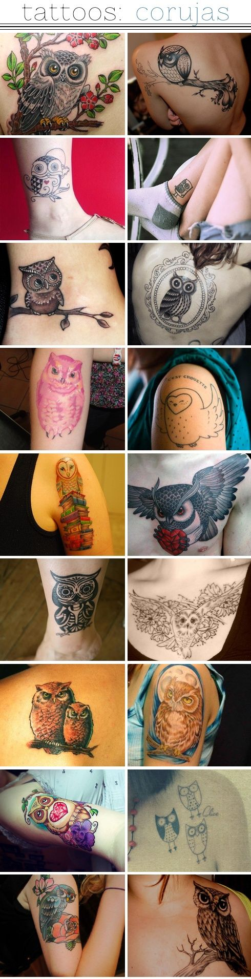 owl tattoos | I know someone who  would love this