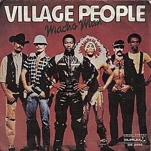 The Village People, formed in 1977, made disco dance hits. A few of their songs are macho man, can't stop the music, in the navy and their greatest YMCA.