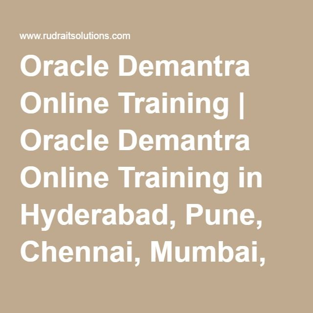 Oracle Demantra Online Training | Oracle Demantra Online Training in Hyderabad, Pune, Chennai, Mumbai, banglore,India, USA, UK, Australia, New Zealand, UAE, Saudi Arabia,Pakistan, Singapore, Kuwait -Rudra It Solutions