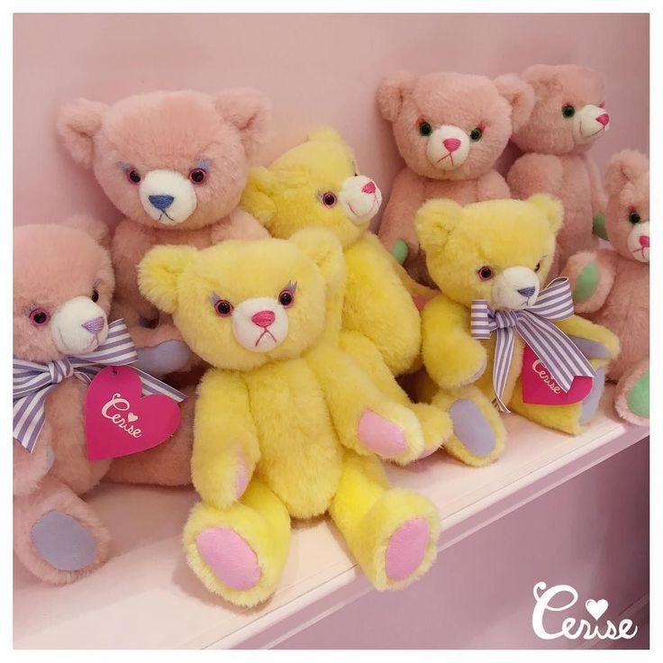 マカロンベアが再入荷してきました いまなら店頭でお顔選びもしていただけます . #cerisestore #risatanikawa #teddybear . http://ift.tt/2lFFP9Y