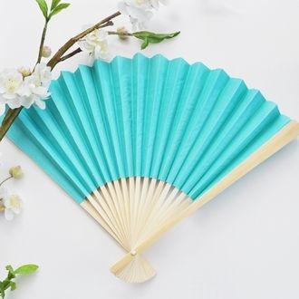 Tiffany Blue Fan Wedding
