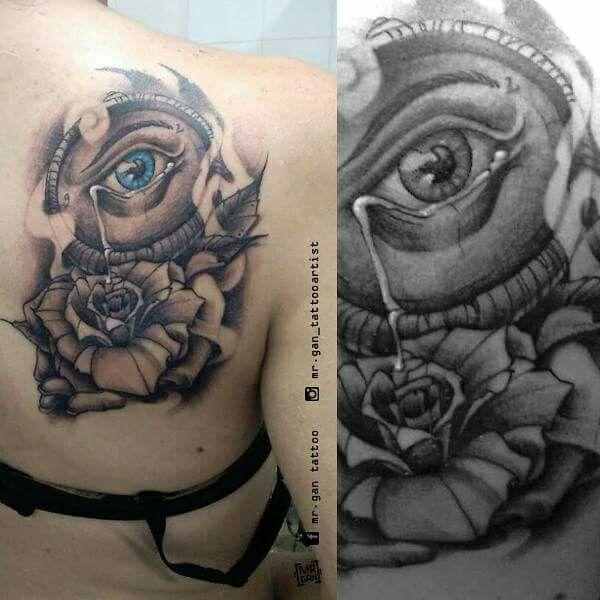 #cry #drop #eyetattoo #handtattoo #rose #rosetattoo #rosa #occhio #inked #tattoo #tattooedboys #tattooedgirlsdoitbetter #inked #tattooed #originaldesign #mrgan #tattooartist