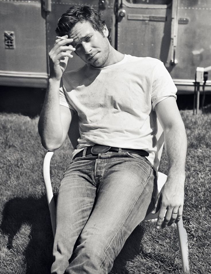 I guess this guy's name is Armie Hammer, and knowing that was enough to make me stop believing that he was a real person.