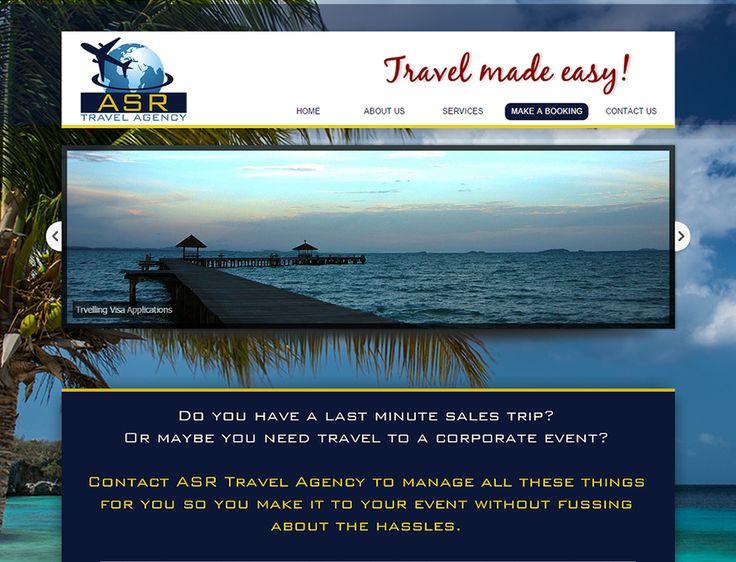 WEBSITE DESIGN >> ASR Travel Agency - http://www.asrtravel.co.za/ - Created By Design So Fine