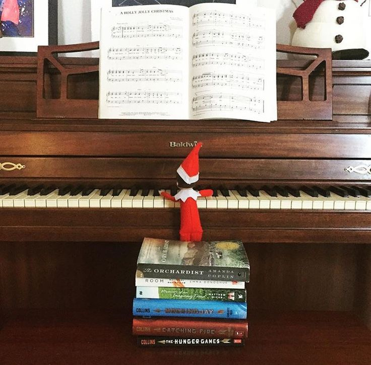 Our Elf Cleo likes to play Christmas music on the piano!