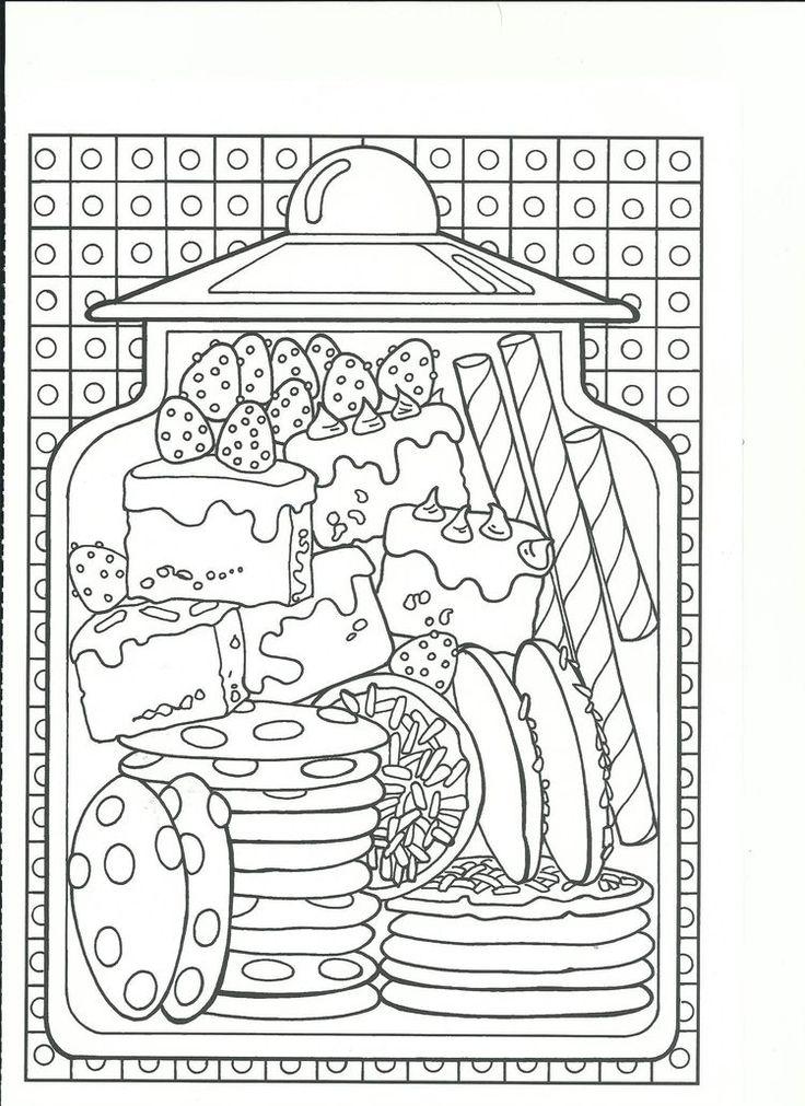cookies and sweet treats cookie jar coloring page