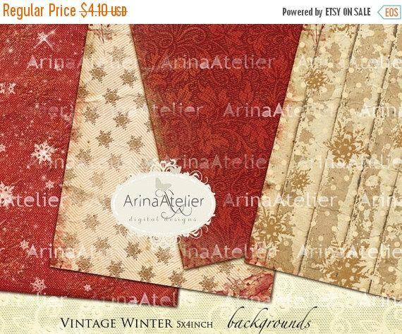 30% OFF SALE  Vintage Winter Backgrounds  par arinaatelierDigital