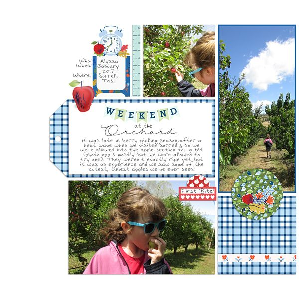 Apple orchard pocket scrapbook page by Justine with The Lilypad products #3photos