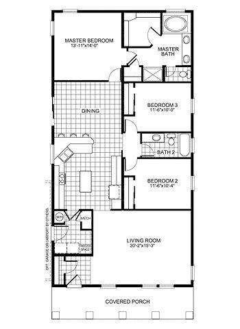 Wilmington DCQ364H7 Modular Home Plan | Manufactured Floor Plans