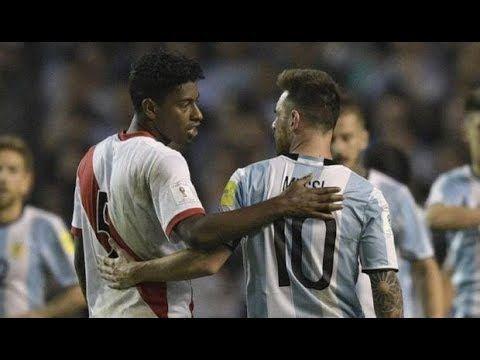 El gran momento del defensa Miguel Araujo: El peruano que anuló a Lionel Messi - YouTube
