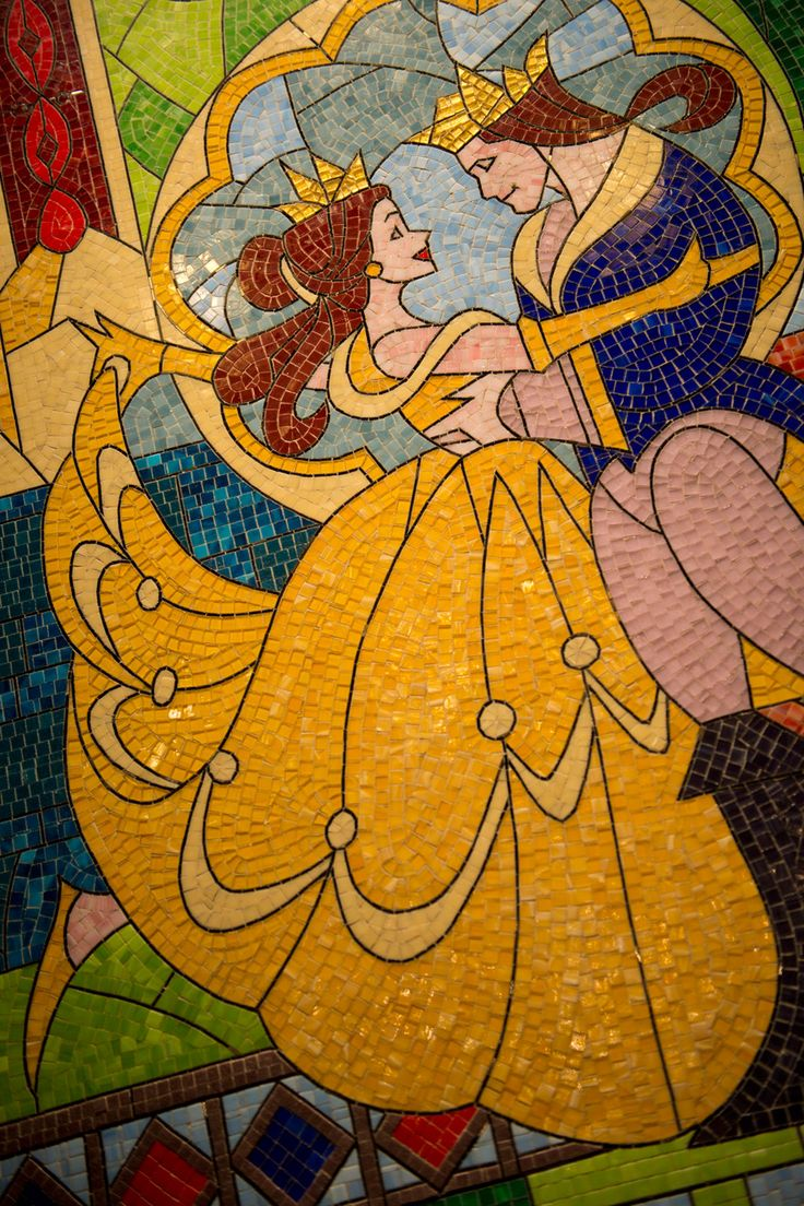 Stained Glass At Be Our Guest Restaurant Magic Kingdom Park Beauty And The Beast