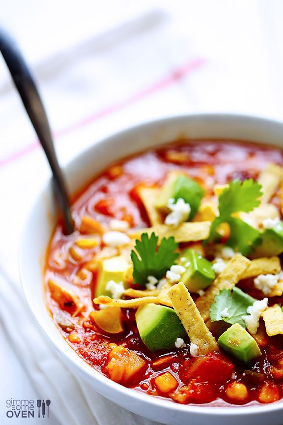 Chipotle Chicken and Rice Soup Recipe | gimmesomeoven.com: Tortillas Chips, Comforter Recipe, Rice Soups, Chipotle Chicken, Yummy Food, Food Yummy, Ovens Recipe, Soups Recipe, Delicious Food