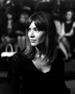 Long bangs, middle part  ||  Francoise Hardy