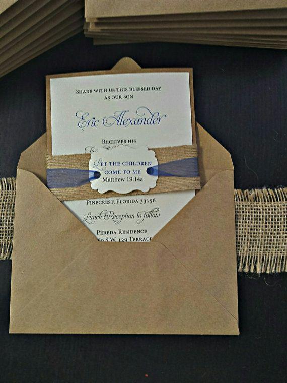 First Communion Invitation  Kraft Birthday by AmiraDesignEvents