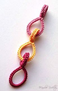 Chiacchierino Blog di Yarnplayer: Tatted Cotter Pin Links Tutorial