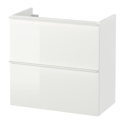 199$. GODMORGON Sink cabinet with 2 drawers, high gloss white high gloss white 23 5/8x11 3/4x22 7/8