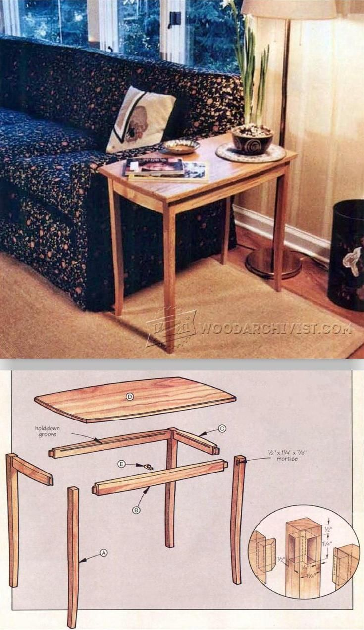 Small Table Plans - Furniture Plans and Projects | WoodArchivist.com
