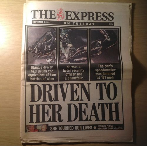 THE EXPRESS NEWSPAPER SEPTEMBER 2 1997 Princess Diana Driven To Her Death