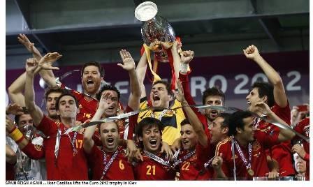 Spain reign again in Europe