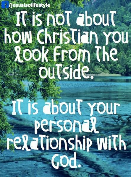personal relationship with jesus not biblical money