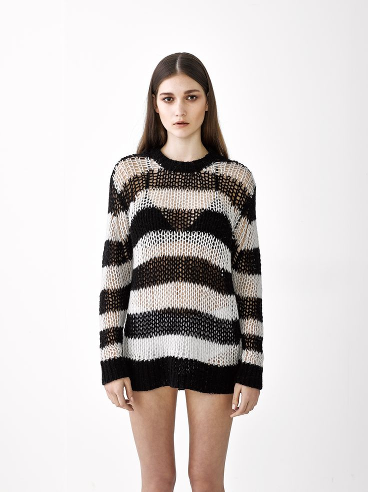 Samantha Sweater / Black Stripe