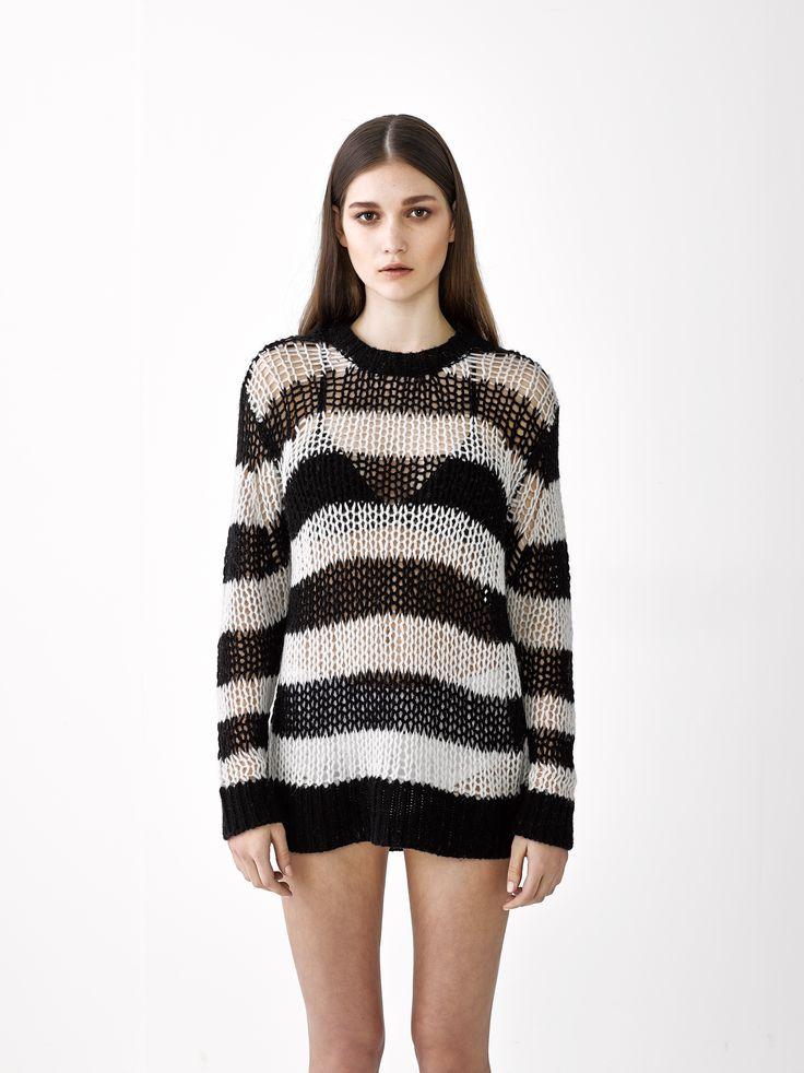 Samantha Sweater / Black Stripe