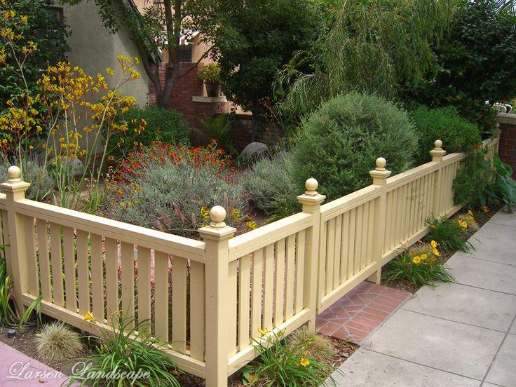 decorative front garden fencing - Google Search