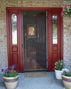 Retractable screen door retractable screens and screen for Retractable front door screen