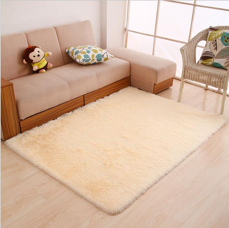 80cmx160cm Shaggy Carpet For Living Room Anti Slip Throw Carpet Solid Rugs For Beding Room Mechanical Wash 2017 Free Shipping