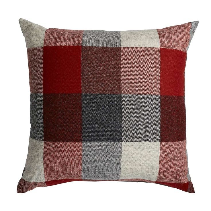 Heritage Red Check Cushion | Dunelm