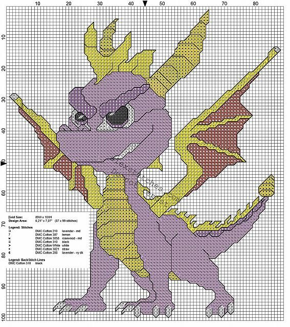 Dragon Stitch Knitting Pattern : 1000+ images about Dragons - Cross Stitch on Pinterest ...