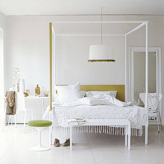 Drum Shades Above The Bed