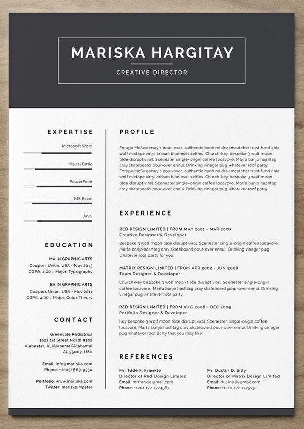free word resume template Dress to impress Pinterest