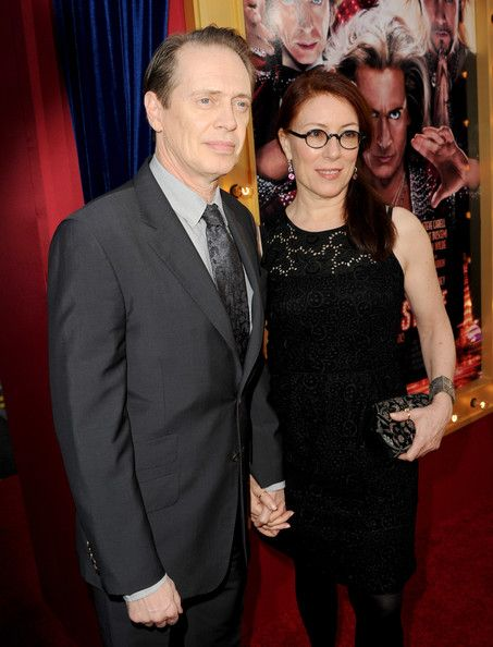 """Steve Buscemi (L) and Jo Andres attend the premiere of Warner Bros. Pictures' """"The Incredible Burt Wonderstone"""" at TCL Chinese Theatre on March 11, 2013 in Hollywood, California."""