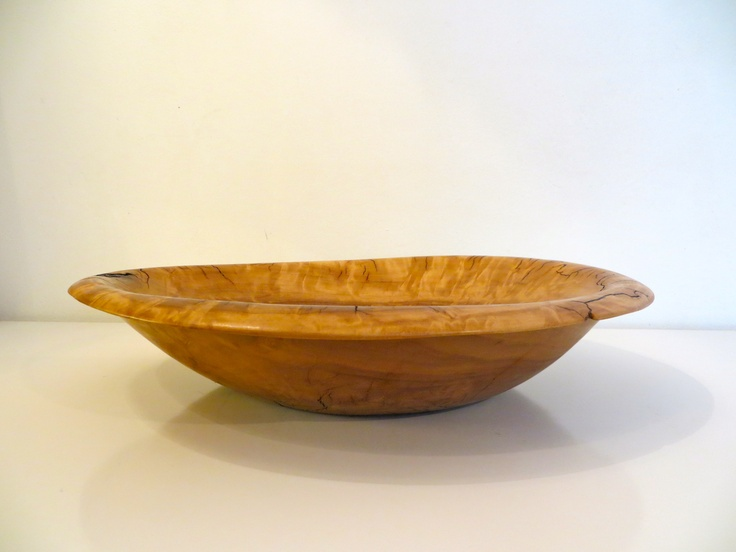 Sleek Oak Bowl