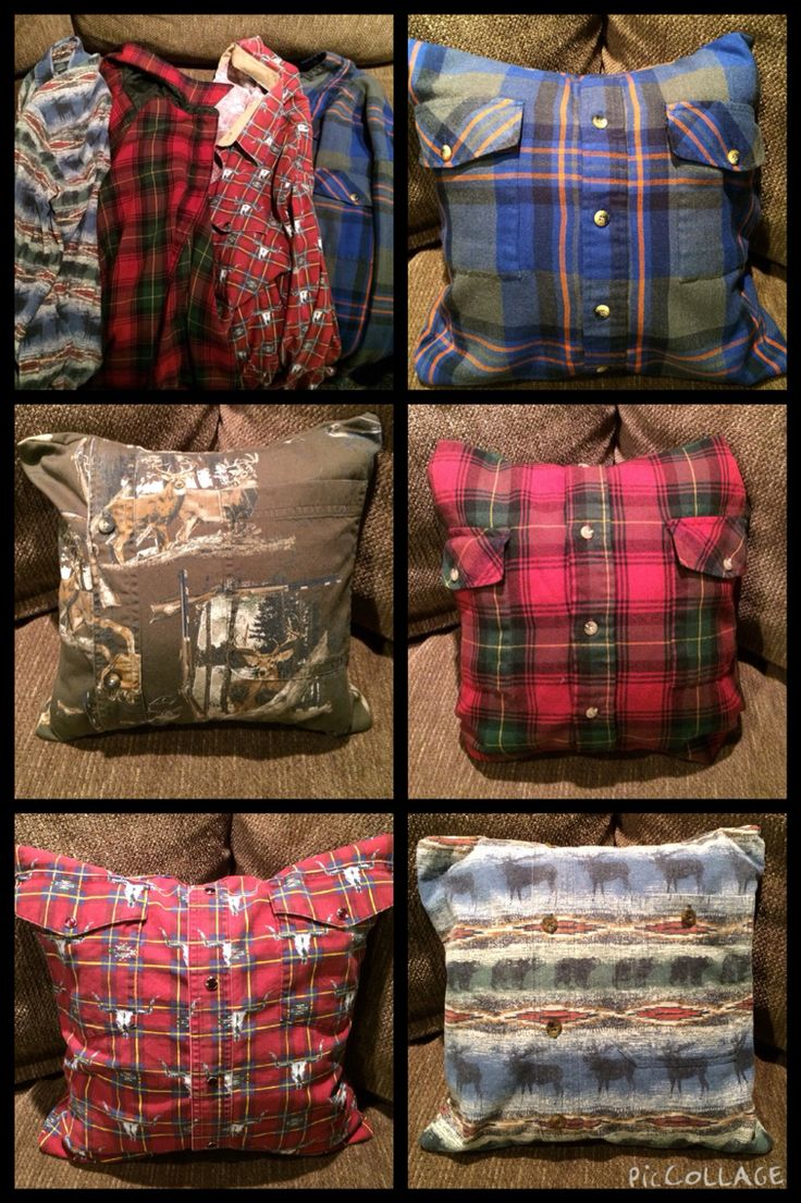 Ornaments for loved ones lost - I Made These Pillows For A Friend Who Lost Her Grandpa Out Of His Flannel Shirts