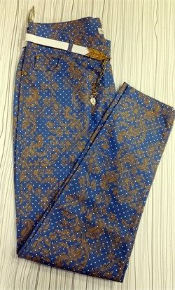 Bayan Büyük Beden Desenli Likralı pantolon